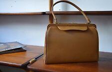 Tasche Handtasche handbag bag beige 50er True VINTAGE 50s Rockabilly