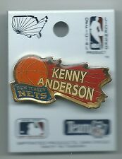 New Jersey Nets Kenny Anderson Pin Stamped NBA Properties, Inc. 1991 Basketball