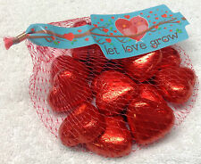 Valentines Day Red Foil Milk Chocolate Hearts Nets 100g - Mothers Day - Weddings
