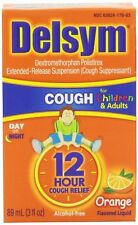 Delsym 12 Hour Cough Relief Children/Adults Orange Flavored 3 oz Each