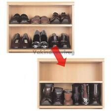 1 Pair Portable Stackable Shoe Rack Storage Closet Cabinet Smart Organiser