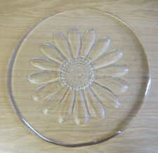 "Dartington Crystal Glass Daisy 10.5"" Cheese Platter"