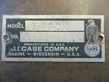 Case 580 Construction King Tractor Tag