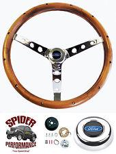 "65-69 Fairlane Galaxie 500 Ranchero steering wheel CLASSIC WALNUT 15"" Grant"