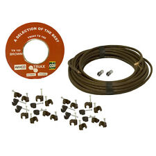 20m TX100 Satellite/Aerial Coax Cable Kit (Freeview/Freesat/Sky) Brown