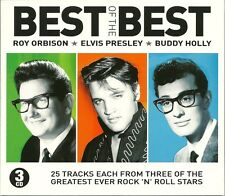 BEST OF THE BEST ROY ORISON * ELVIS PRESLEY * BUDDY HOLLY - 3 CD BOX SET