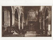The Chancel St Margarets Church London SW Vintage RP Postcard 758a