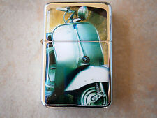 CLASSIC 60'S VESPA MOTOR BIKE STAR FLIP LIGHTER VINTAGE LOOK & xtra zippo flints