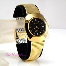 OMAX Waterproof Black & Gold PL Designer Style Stainless Steel Mens Watch WP4107