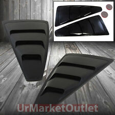 Black Shelby Look 3-Slats Side Vent Window Louvers Scoop for Ford 05-09 Mustang