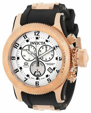 Swiss Made Invicta 15566 Russian Diver Chronograph Silver Dial Men's Watch