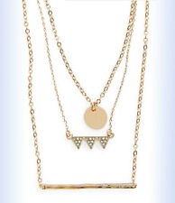 "BP Gold-Tone Dainty GEO CHARM Pendant Layered 18"" Necklace"