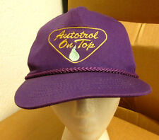 AUTOTROL ON TOP baseball hat horsepower gear cap motors vtg embroidery 1980s