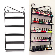 5 Tier Nail Polish Rack/ Varnish  Shop Display Stand - Wall Mounted Holder Black