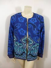 Coldwater Creek Multi-Color Long Sleeve Open Front Woman Top Jacket Cardigan W18