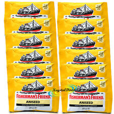 12x Fisherman's Friend Aniseed Menthol Lozenges 25g