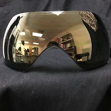 NEW V-Force Grill Thermal Dual Pane Anti-Fog Paintball Mask Lens - Mirror Gold