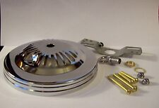 "5"" CHROME FINISH CEILING CANOPY KIT FOR LIGHT FIXTURES LAMP PART NEW 54618J"