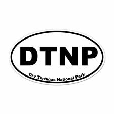 "Dry Tortugas National Park oval car window bumper sticker decal 5"" x 3"""