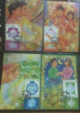 Singapore postcards Maxicards- 1996 Festival stamps New Year Christmas (2 pic)
