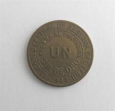 1944 PERU Token: El Banco Central De Reserva Del Peru Un Sol De Oro