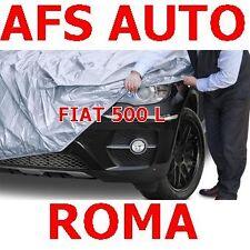 TELO COPRIAUTO TELATO FELPATO FIAT 500 L ANNO 2012 IMPERMEABILE ZIP LATO GUIDA