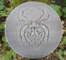 "spider plaque mold 10"" x .75"" thick plastic mold for plaster concrete casting"
