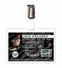 Resident Evil 4 Jack Krauser Weapons License ID Badge Card Cosplay Halloween