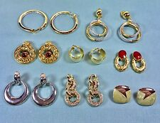 QVC & HSN 8 Pair Lot of Clip Earrings... Collected But Never Worn from Estate!