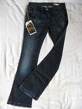 We Are Replay Damen Blue Jeans Stretch W28/L34 x-low waist regular fit flare