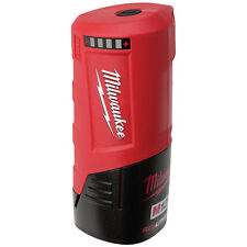 Milwaukee M12 CORDLESS POWER SOURCE 2.1A USB Port, On-Board Fuel Guage*USA Brand