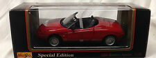 MAISTO ALFA ROMEO 1995 RED SPIDER SPECIAL EDITION 1:18 DIECAST CONVERTIBLE CAR
