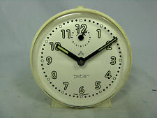 Schöner / Cool 70´s design PETER  Wecker  # alarm clock in working condition