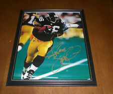 STEELERS JEROME BETTIS FRAMED & SIGNED AUTOGRAPH 8X10