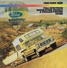 1986 FORD RV/Truck Tow Brochure: F Series,150,250,MOTORHOME,CAMPER,BRONCO,RANGER