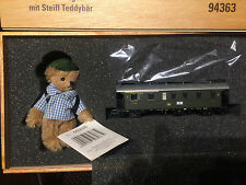 Steiff- Marklin#94363 Limited Edition Train Set, Comes in a wooden Box with COA.