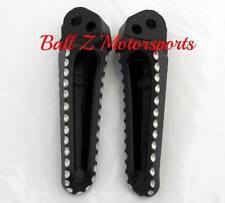 Hayabusa Stock/OEM Black Silver Ball Cut Rear Foot Pegs 99-01-02-03-04-05-06-07
