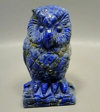 Owl Lapis Lazuli 2.5 inch Blue Gemstone Animal Carving Afghanistan