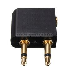NEW Airplane Flight earphone Audio Adapter Plug Socket Connect Gold Plate 3.5mm