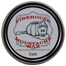 Firehouse Dark Moustache Wax 1 oz - Strong Hold, Free Shipping, Made in the USA
