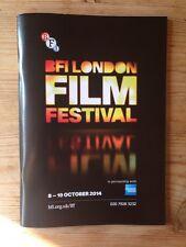 BFI LONDON FILM FESTIVAL 2014 112-PAGE COLOUR PROGRAMME NEW & MINT