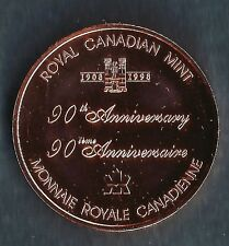 CANADA RCM 90th ANNIVERSARY BRONZE MEDALLION A BEAUTIFUL  PRISTINE ITEM
