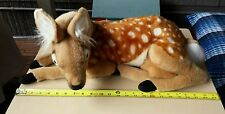 HANSA Plush Portraits of Nature Baby Deer Fawn Realistic