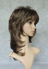 "16"" Long Brown Feathery Shag Classic Cap Full Synthetic Wig - #22"