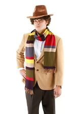 Dr Doctor Who Cosplay Fourth 4th 6' DELUXE Tom Baker Striped Scarf