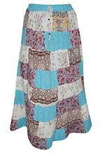 WOMEN VINTAGE PATCHWORK LONG SKIRT BOHO STYLE HIPPIE GYPSY MAXI SUMMER SKIRTS