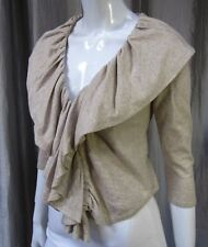 INC International Concepts 100% Cotton Cropped Cardigan Sweater Size P/S, Sand