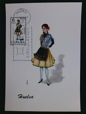 SPAIN MK 1968 COSTUMES HUELVA TRACHTEN MAXIMUMKARTE MAXIMUM CARD MC CM c6028