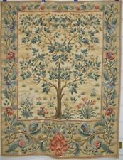 """Tree of Life William Morris Beige Ornament Mille Fleur Wall Tapestry 28""""x36"""""""