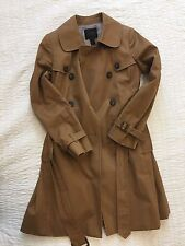 J Crew Icon Classic Beige Trench Coat Belted Jacket 100% Cotton Women's 2 / S